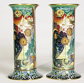 Pair of lustre vases