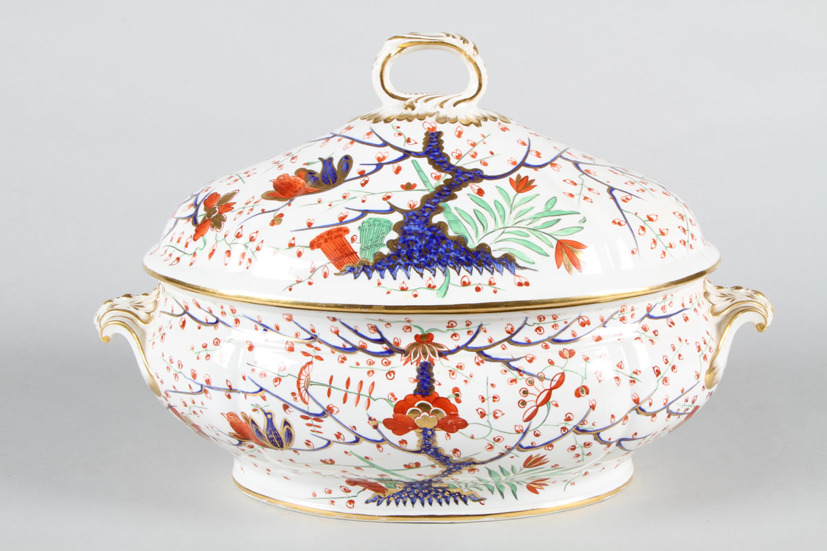 19th Century Derby Imari pattern part dinner service, Sold £1,100