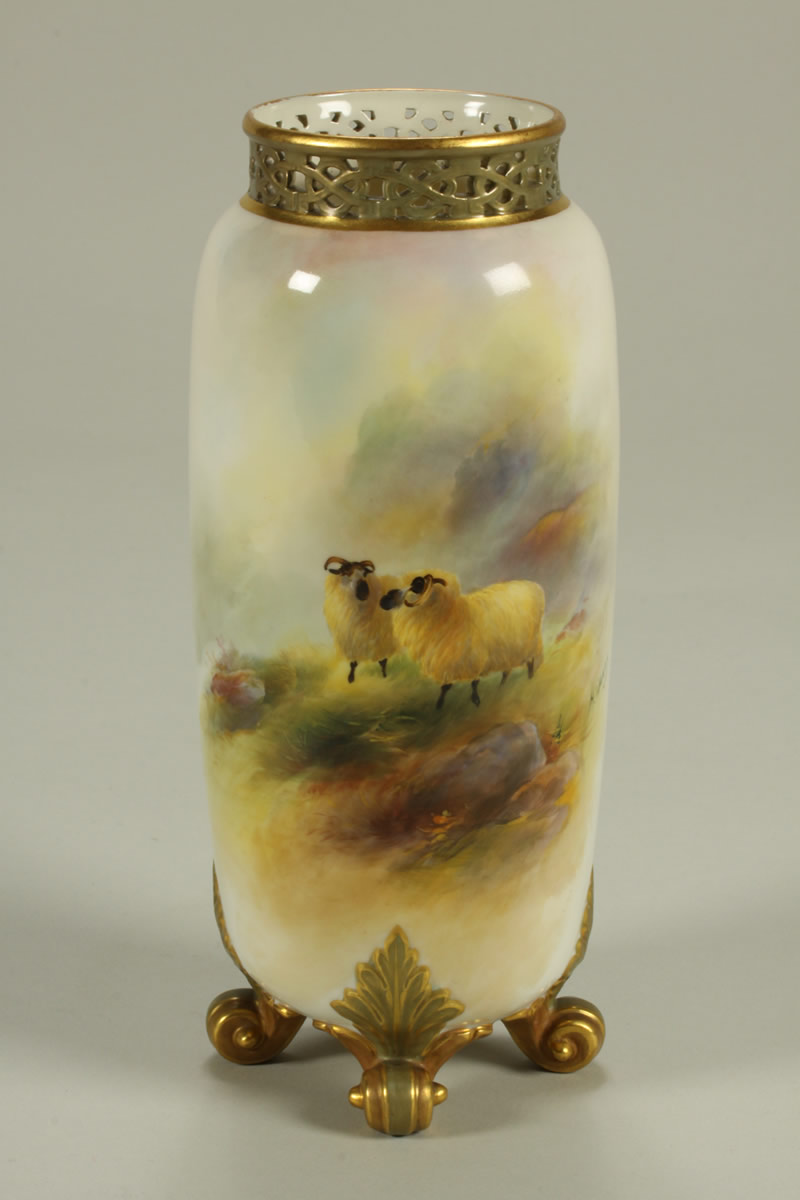 Harry Davis Worcester Vase, Sold £1350..JPG