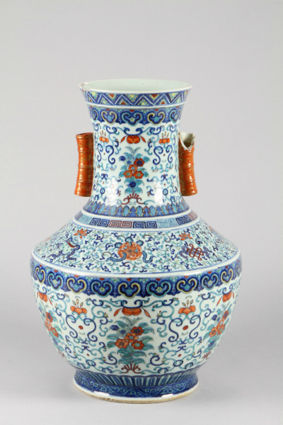 19th Century Chinese Duval large baluster Vase, sold for £10,000