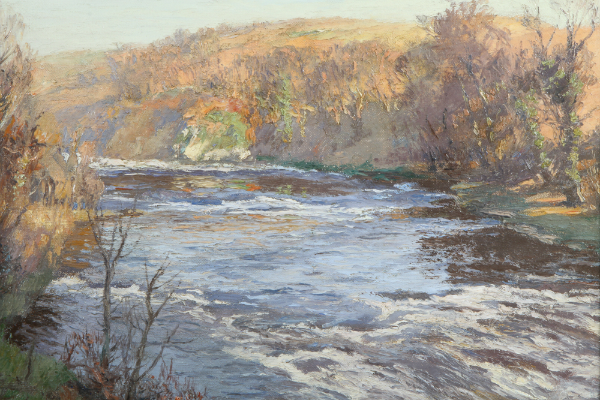 'A Galloway Trout Stream' by Charles Oppenheimer, sold for £2,200
