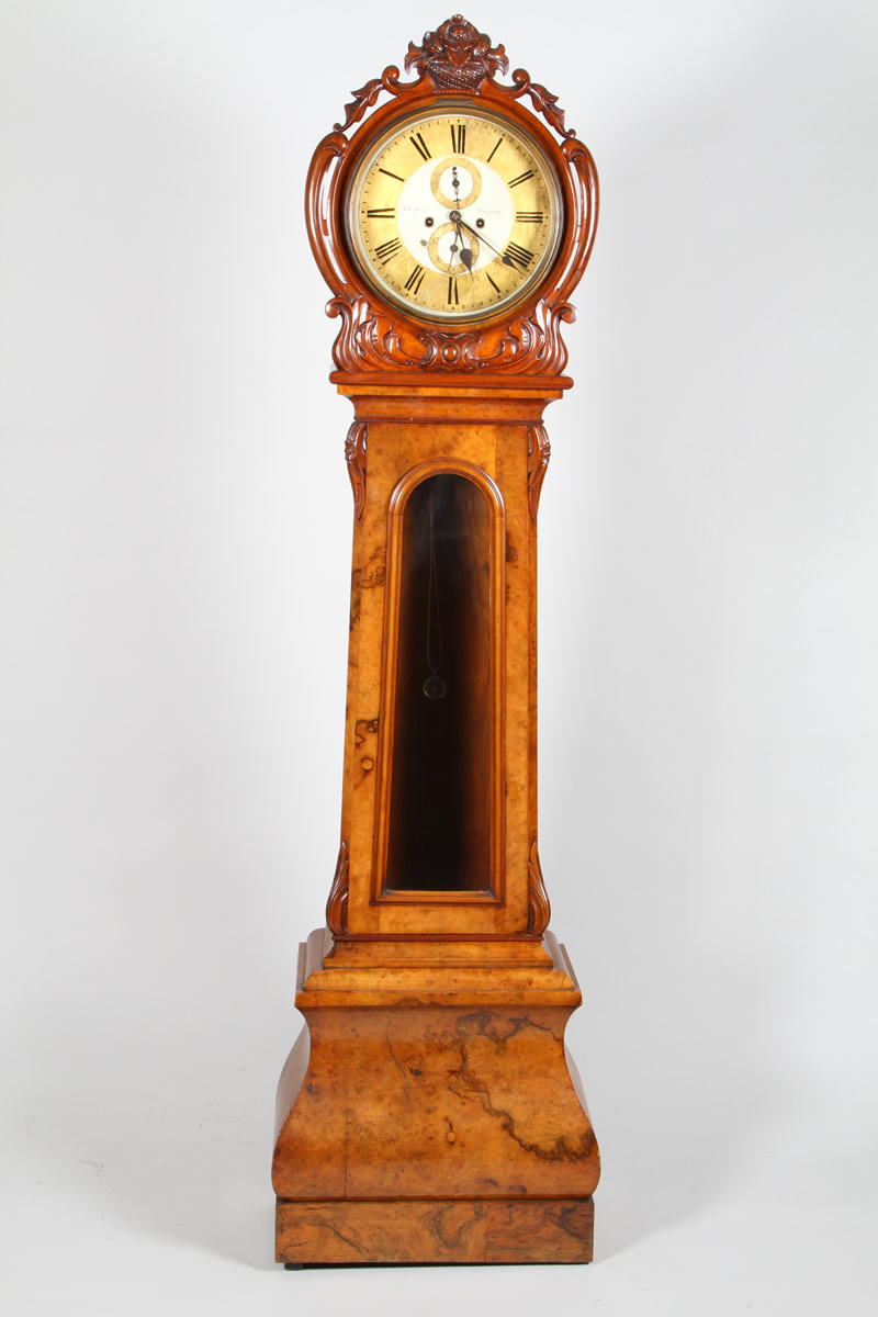 Scottish Victorian walnut drumhead clock, Realised £1700.