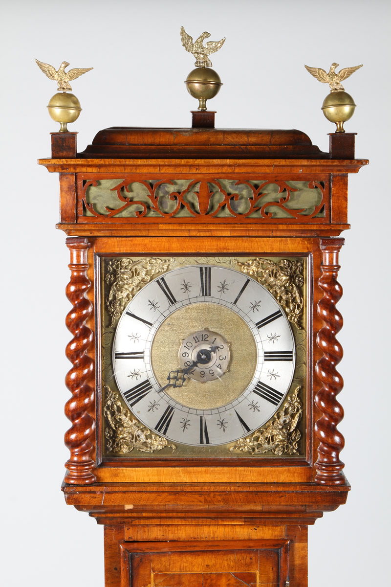 William and Mary walnut long cased clock by Edmund Massey, Realsied £4800.jpg