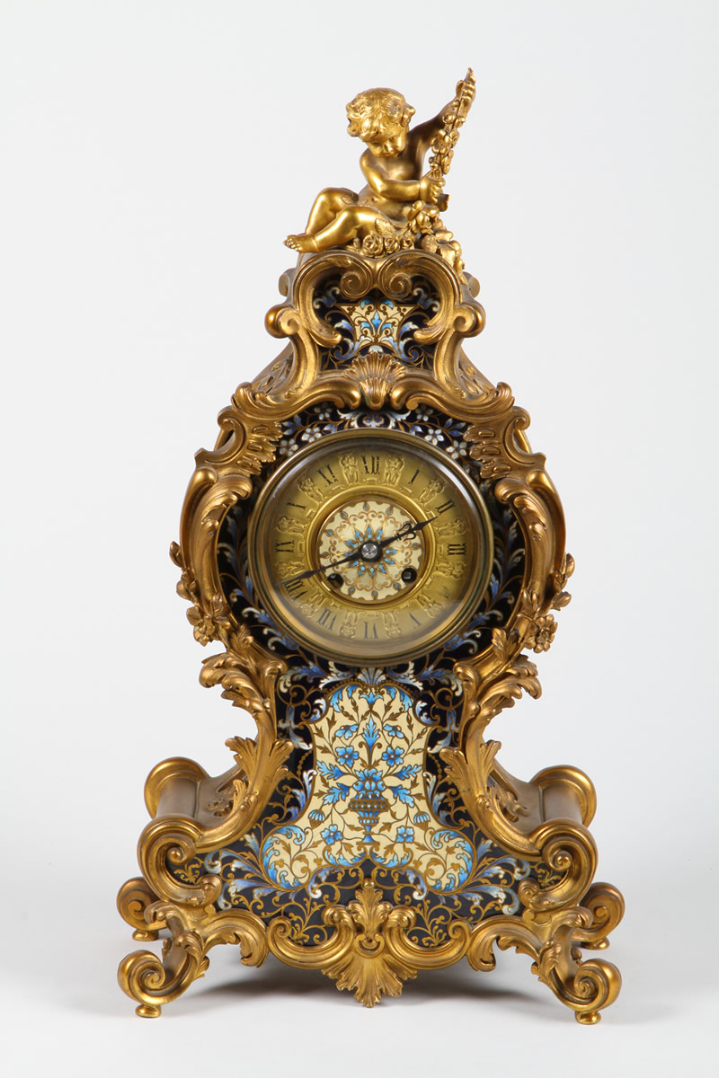 19th Century French Louis XIV Style Ormolu cased mantel clock, Realised £3400