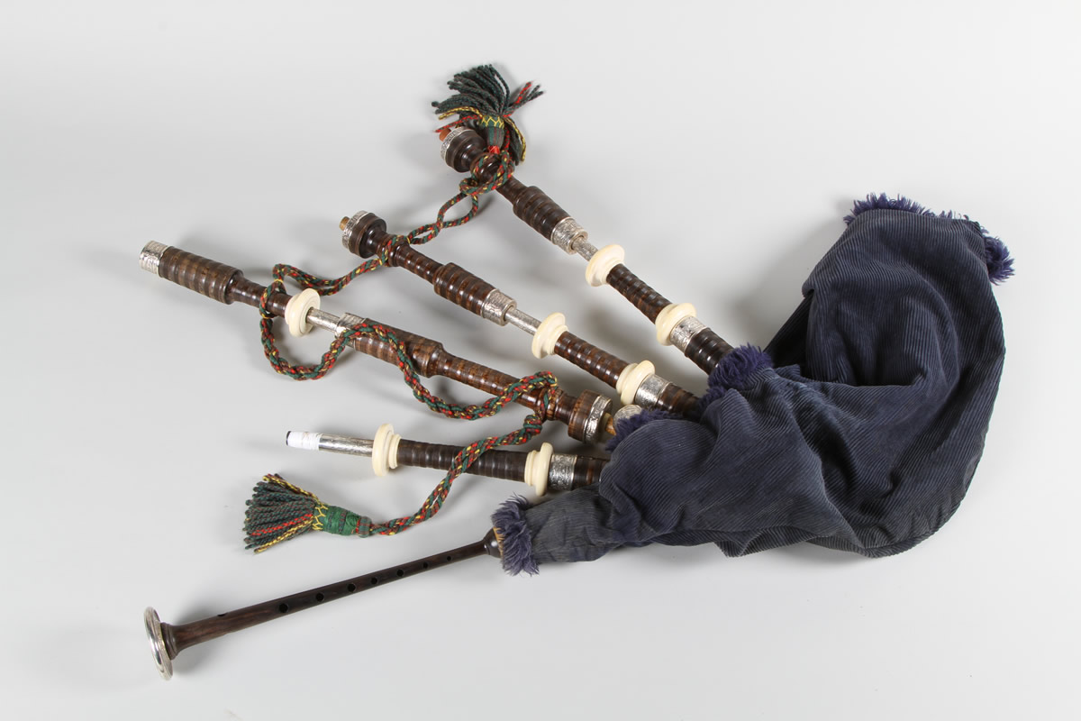 Set of Silver lined Bagpipes, Sold £1600.jpg