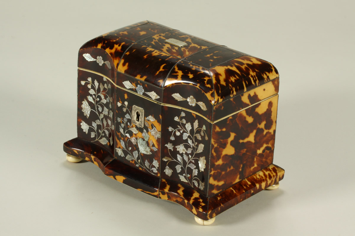 Tortoiseshell Tea Caddy, Sold £1200.