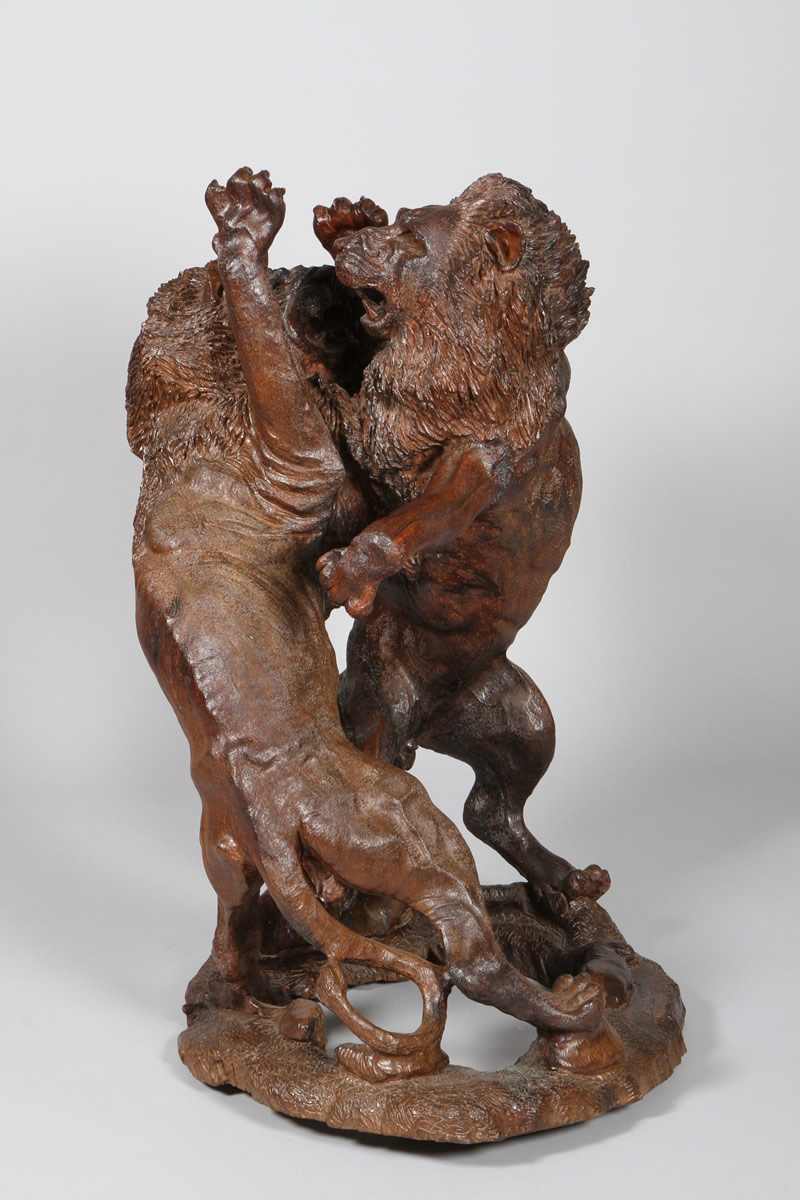 Zenzo Mayo detailed carved hardwood figure group, Sold £3000.jpg