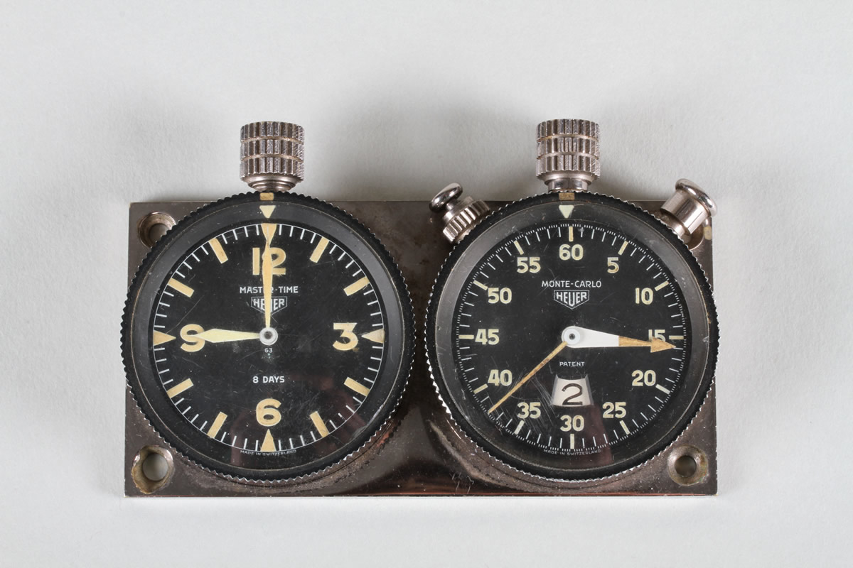 Original Heuer 1958 Rally-Master mounted Chronographs, Sold £1,150.jpg