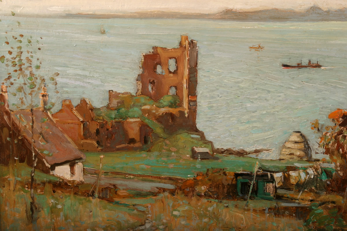 Thomas Bonar(scottish1873-1955) oil on board. Lyon, Sold £1800.jpg