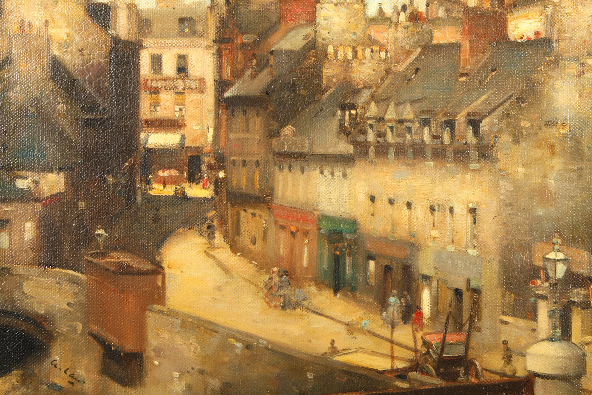 Andrew Law(scottish 1873-1967), Oil on Canvas, Waterloo Street