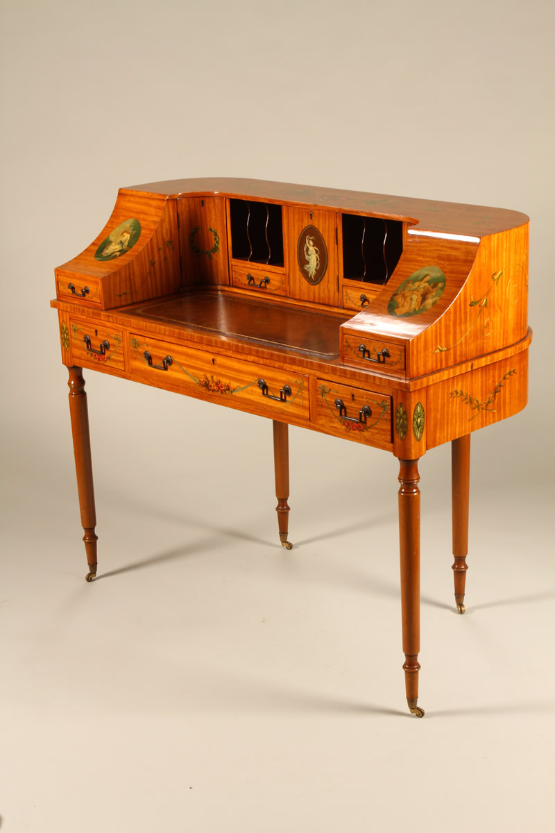 Edwardian Carltonhouse Desk, Sold £1800