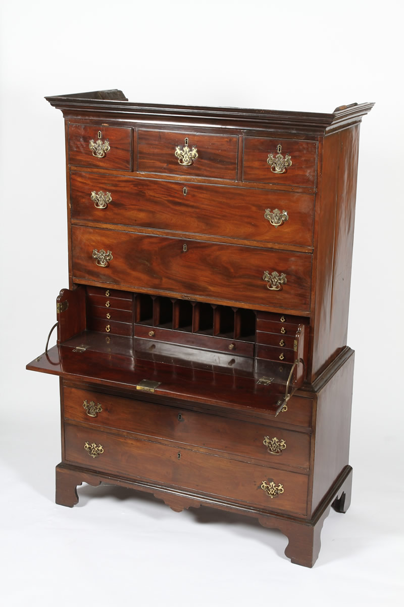 George III mahogany chest on chest, Sold £1100.jpg