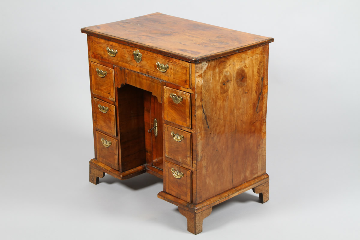 Georgian walnut and mahogany knee hole desk, Sold £1700.jpg