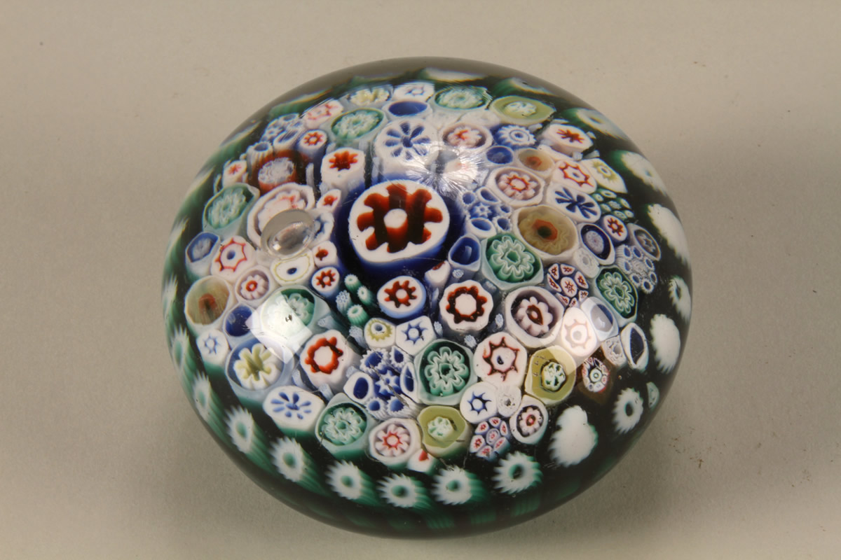 Bacchus concentric glass paper weight Sold £1100.jpg
