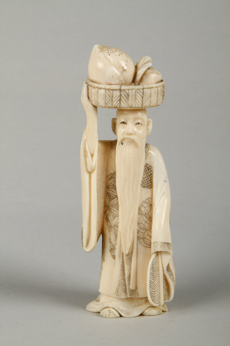 Japanese carved ivory Okimono. Sold £170.jpg