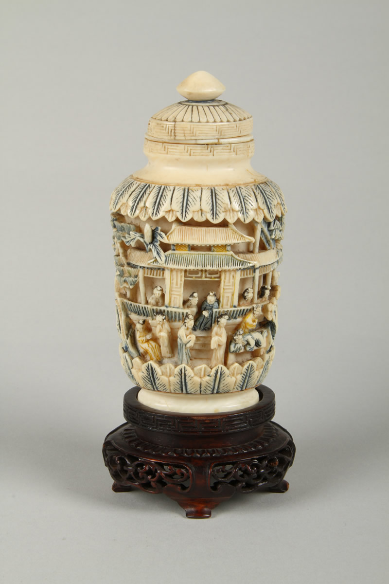 Japanese carved ivory scent bottle. Sold £600.jpg