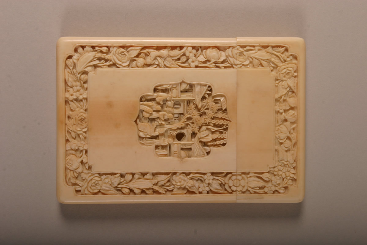 Ivory card case, Sold £600.