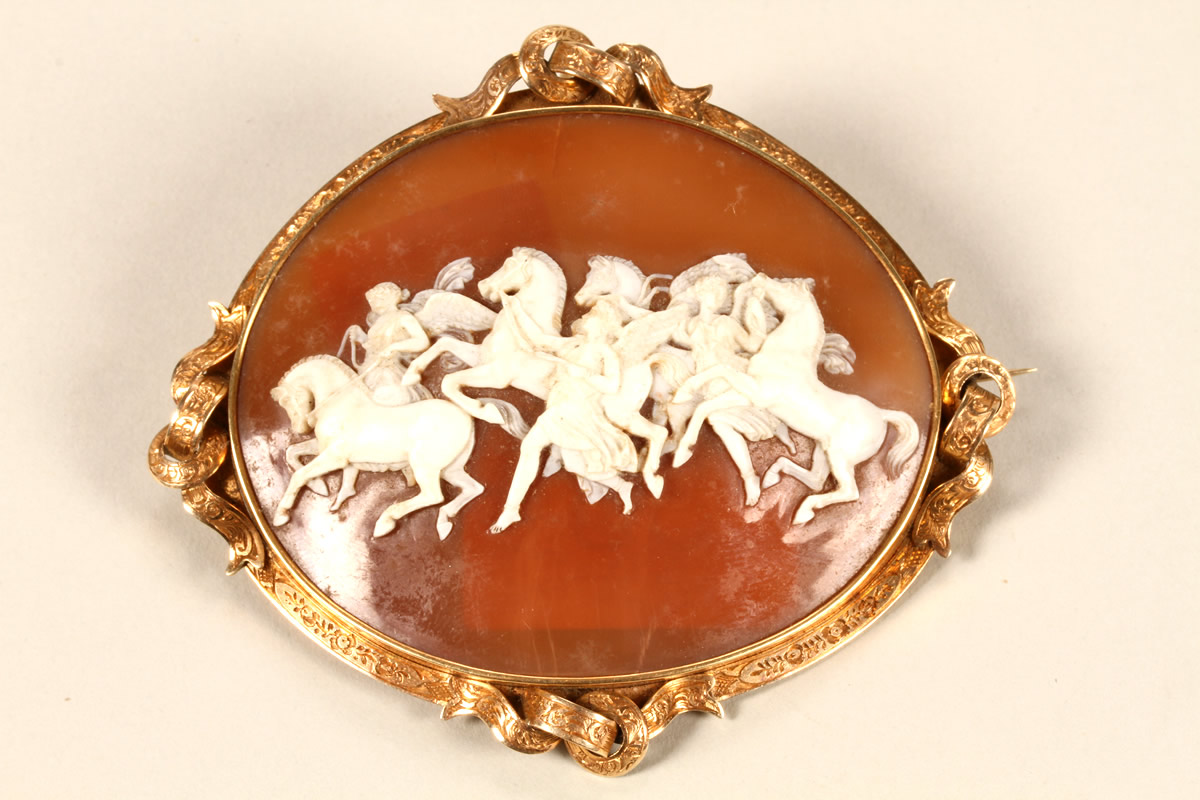 Oval Cameo Brooch, Sold £1100.