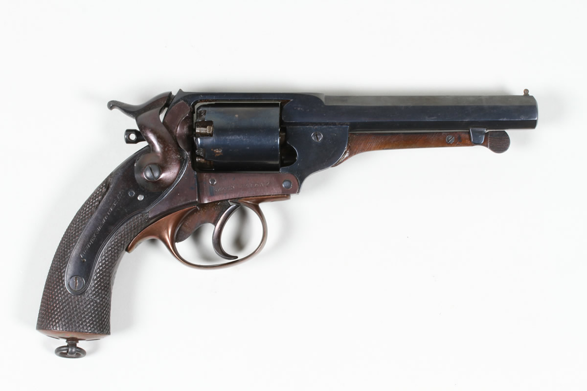 London Armoury 54 bore kerrs patent revolver. Sold £3100.jpg