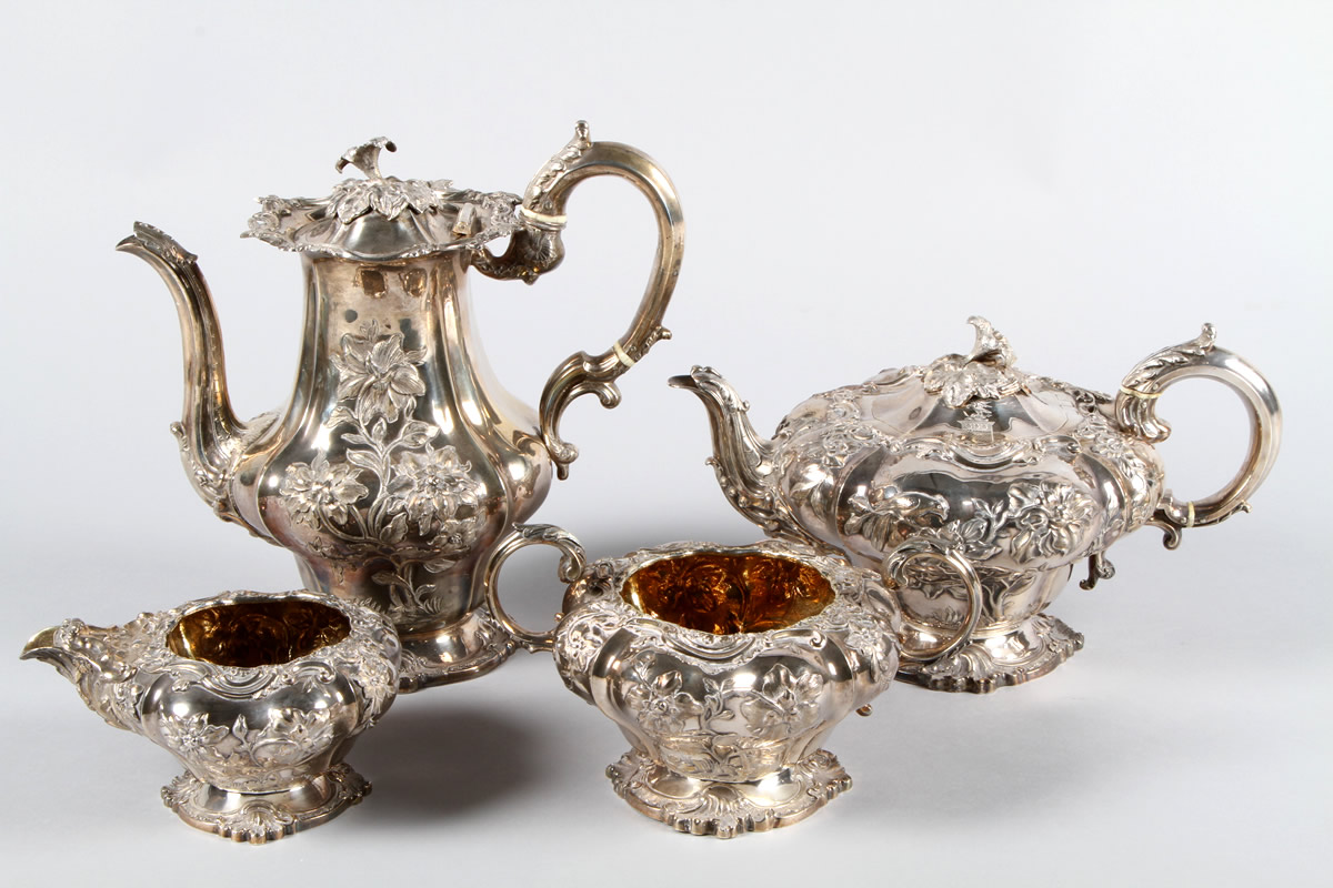 William IV four piece silver tea service, Sold £1800.jpg