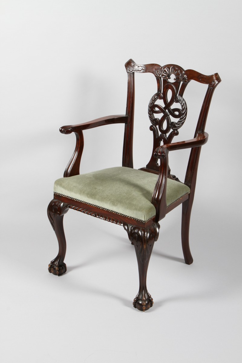 Mahogany Chippendale design chair
