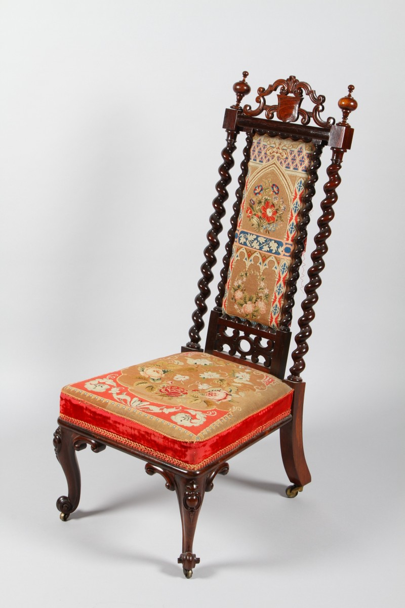Victorian rosewood nursing chair