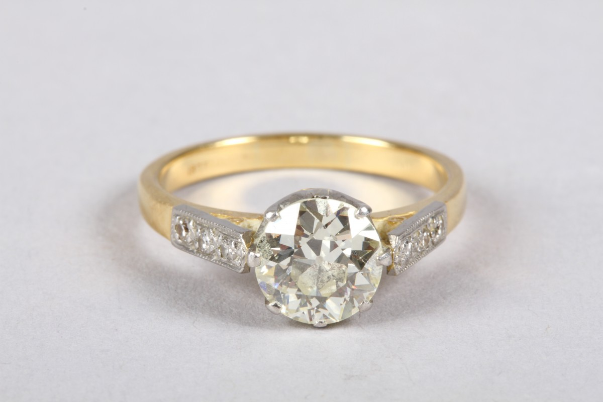 Diamond Solitaire Ring, 1.5 carat diamond, £2,200