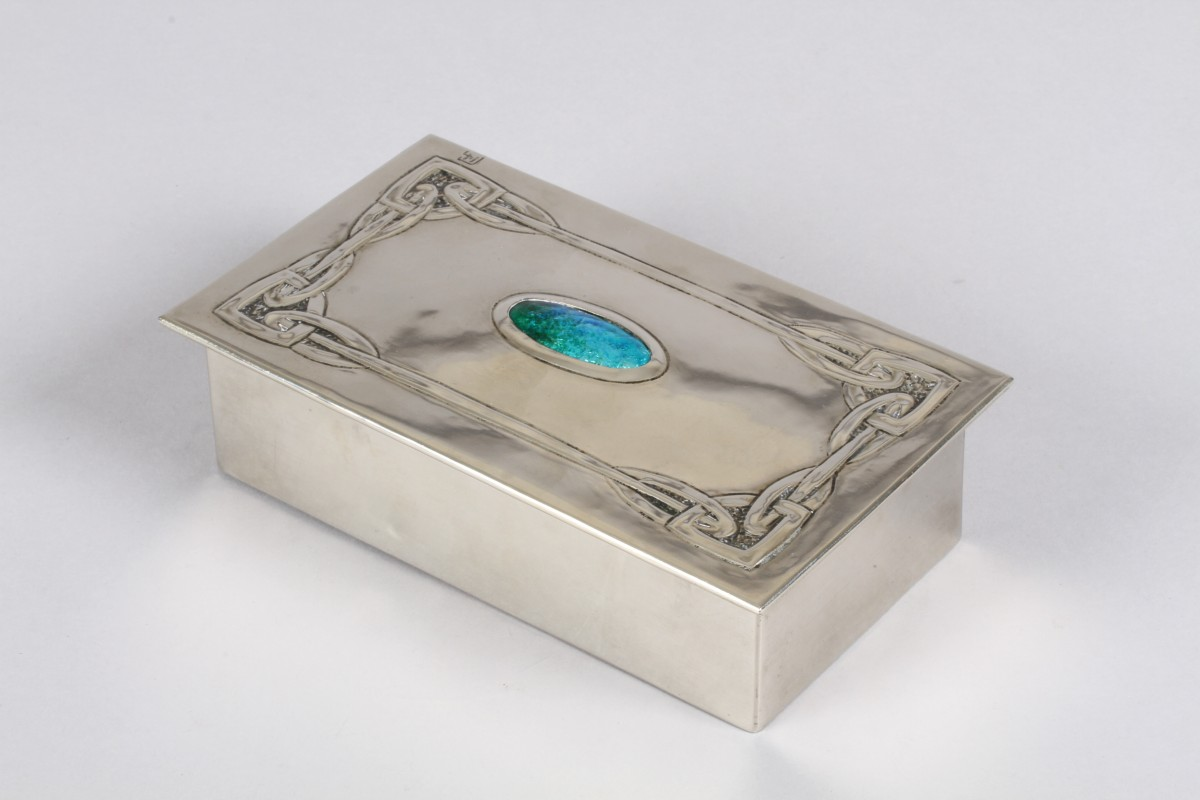 Arts & Crafts silver plated box, sold £400