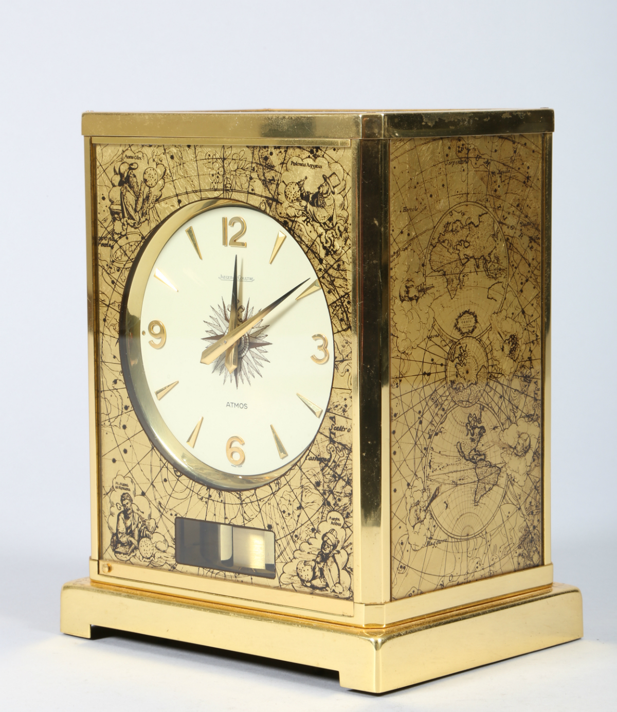 Gilt Brass Atmos Clock by Jaeger Le Coultre, sold £4200