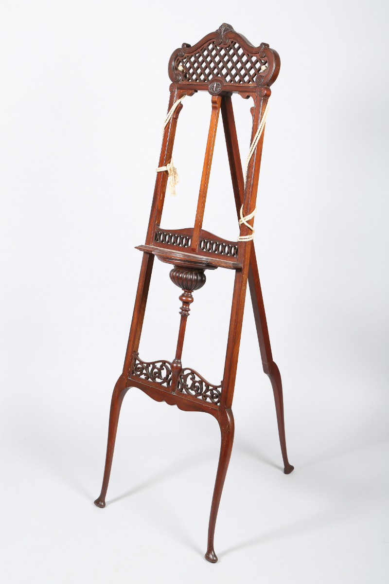 Mahogany artists easel, sold £400