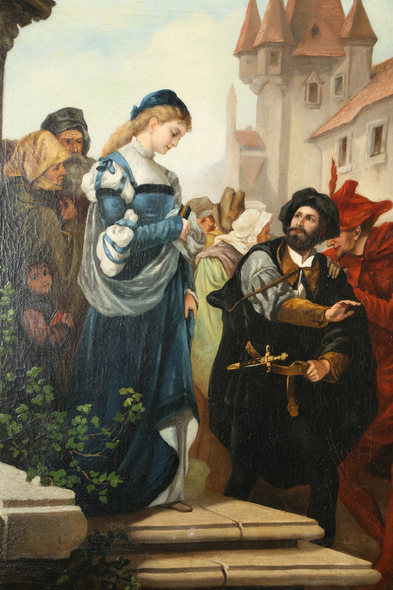 'Faust and Margaret' by Werner, Sold £600