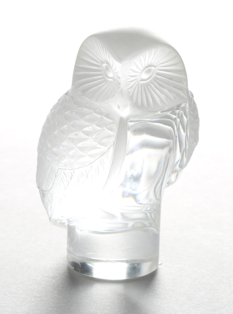 Lalique glass owl figure ornament, sold £160
