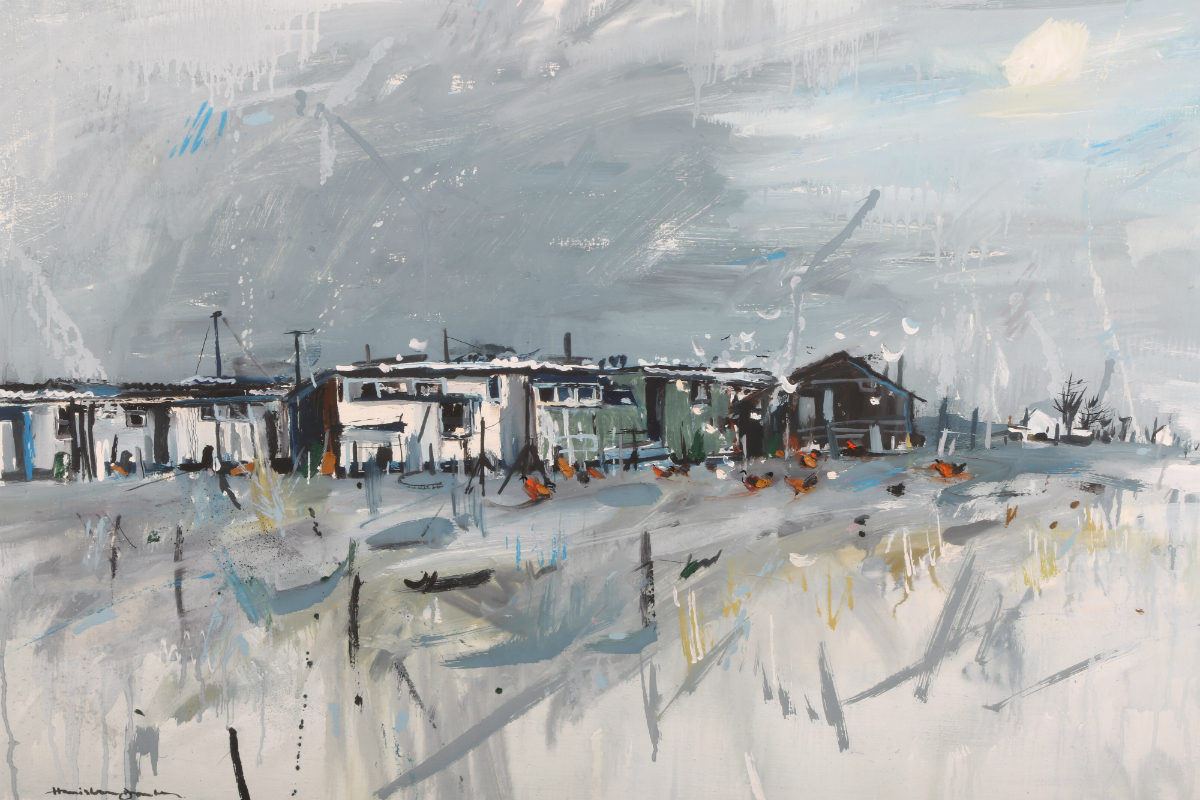 'Landscape Coastal Village' by Hamish MacDonald, sold £950