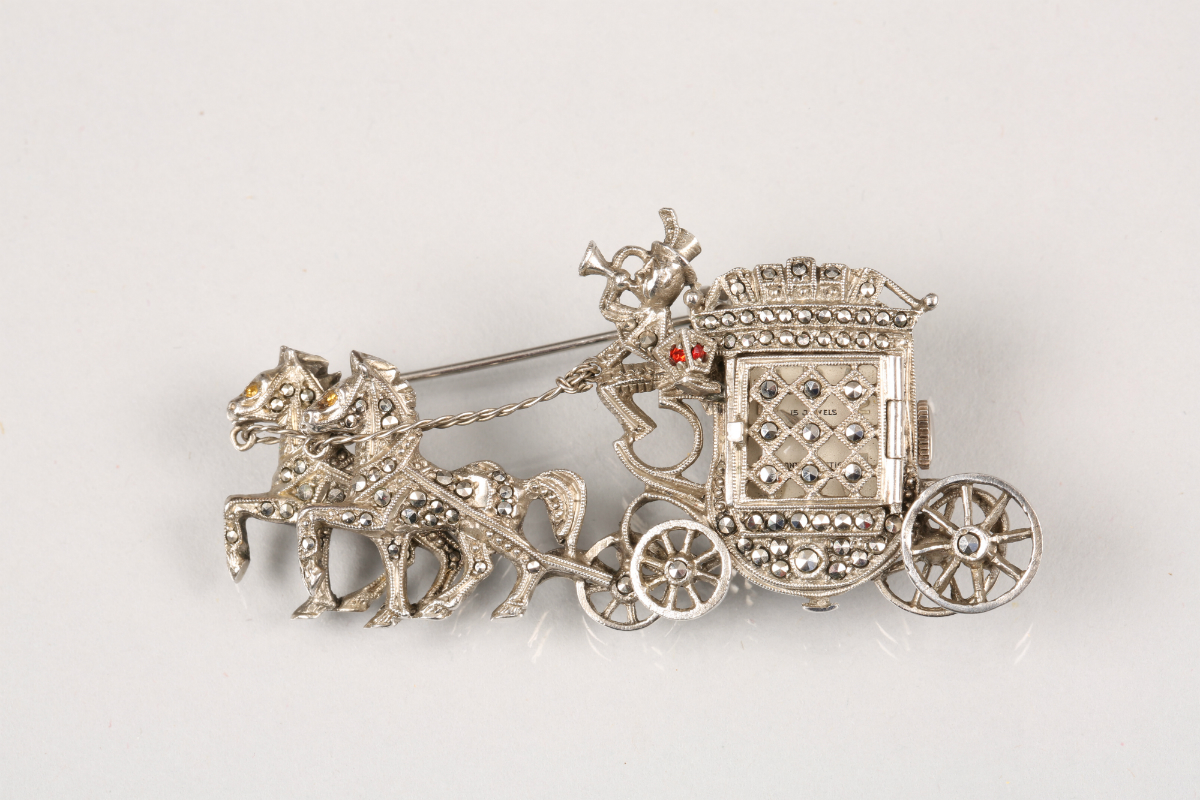 Silver and Marcasite brooch, sold £150
