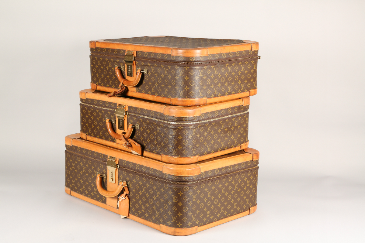 Louis Vuitton 3 Piece graduated luggage set, sold £3000