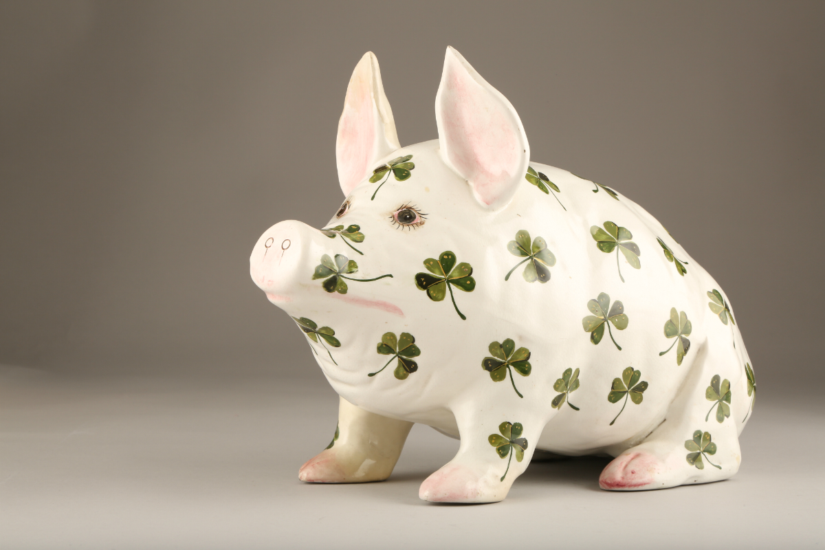 Large Wemyss pottery pig, sold £650