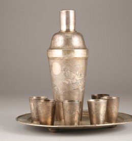 Early 20th Century Chinese export silver cocktail set, sold £600