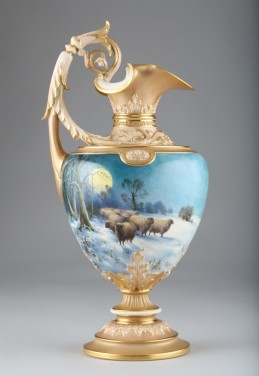 Royal Worcester Vase by Harry Davis, sold £11,500