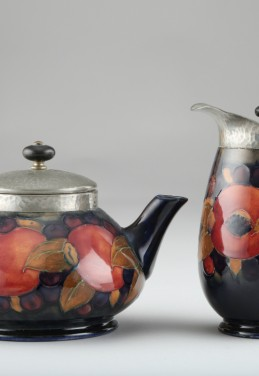 Moorcroft pottery four piece tea service, sold £850