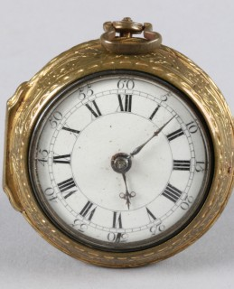 18th Century silver gilt pocket watch Edinburgh 1746, sold £500