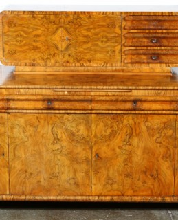 Art Deco walnut sideboard, sold £700