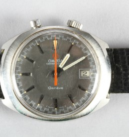 Gentleman's stainless steel Omega Geneve chronostop driver wrist watch sold for £400