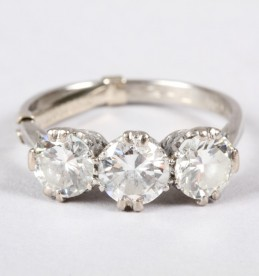 Three Stone Diamond Ring Sold £2,400