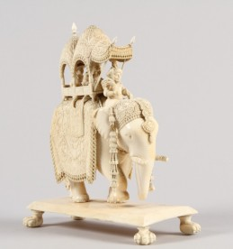 Carved Ivory figure of an Indian Elephant sold £800