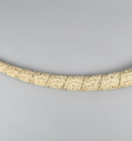 African carved elephant ivory tusk, sold for £800
