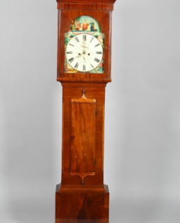 Victorian Scottish mahogany long cased clock, sold for £300