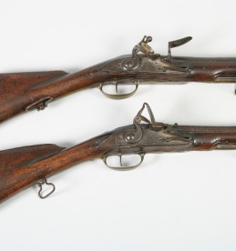 Pair of 18th Century Flintlock pistols, sold £1100