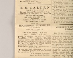 Callan's History Turns up at Auction