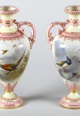 Pair Royal China Works Worcester vases, Realised £1900.jpg