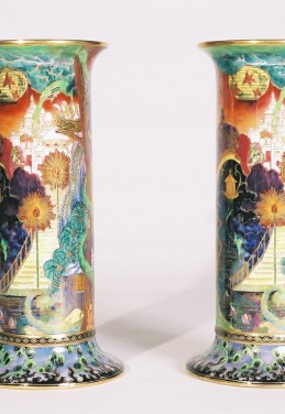Pair Wedgwood Fairyland lustre vases (one minor damage ) Sold £6200.jpg